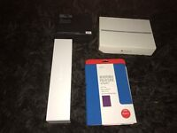 ipad air 2 16gb on ee tamered screen protector on boxed grey new iapd air 2 case/stand may px see ad