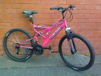 Sabre Mountain ,City Bike - fully working order , full suspension , gell comfort seat