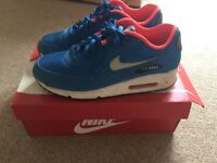 Nike Air Max 90 Men's Blue Suede Size 9