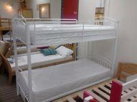 £129 - 3ft White Capri Bunk Bed Metal Frame only