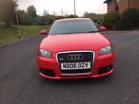 2006 AUDI A3 S LINE QUATTRO 2.0L diesel WITH FULL SERVICE HISTORY AND LONG MOT
