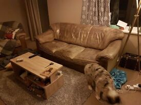 Free to collector - 3 seater sofa and armchair