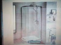 Single door quadrant 900x900mm shower unit.