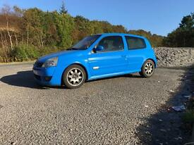 RENAULT SPORT CLIO 182 CUP RACING BLUE 80k 196BHP BIG SPEC TRACK CAR WILLIAMS