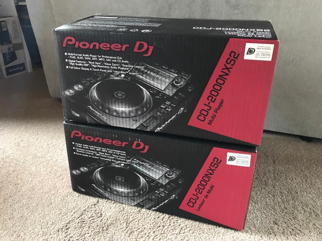 2x Pioneer CDJ 2000 NXS2 DJ Decks - Mint & Boxed