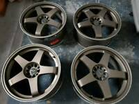 "18"" ASUKA RACING ALLOYS, 5X100, 5X114, GTR"