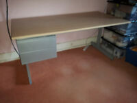 Large, strong, modern desk with drawers