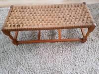 Vintage wicker foot stool