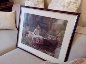 Framed Lady of Shallot Print
