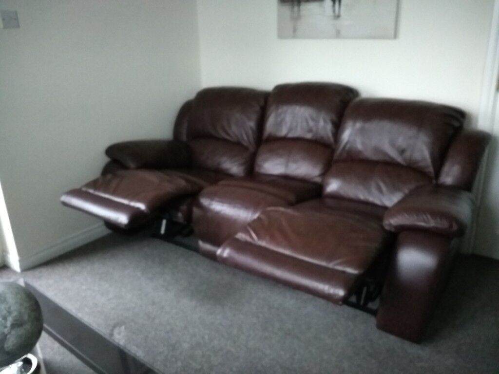 Amazing Double Ended Reclining Leather Sofa In Newcastle County Down Gumtree Bralicious Painted Fabric Chair Ideas Braliciousco