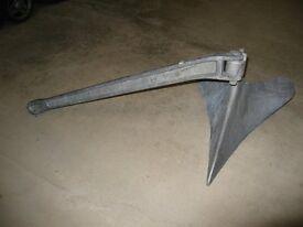 15kg CQR type galvanised anchor
