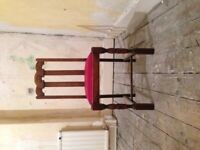 4 Antique Solid Wood Dining Chairs