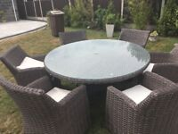 Ratten table and 6 chairs