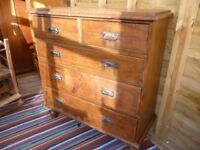 Victorian/Edwardian Pine chest of drawers CAN DELIVER!