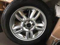 Mini wheels new tyres