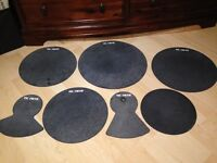 Drum Kit damping pads for quiet practising