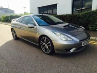 2003/03 TOYOTA CELICA 190 BHP + 11 MONTHS MOT + SERVICE + HPI CLEAR