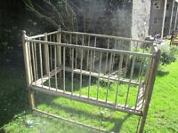 Free to good home - vintage wooden cot