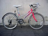"Girls First Road Bike by Emmelle, White & Pink, 20"" Wheels for Kids 7+, JUST SERVICED / CHEAP PRICE!"