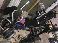 weights bench, weights, gym stuff, gym equipment punch bag speed ball