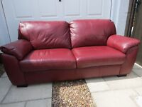 2 year old 3 piece Leather Suite. Condition as new.