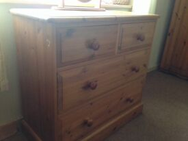Chunky solid pine drawers
