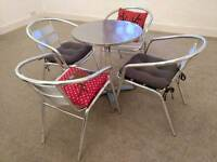 Set of four chairs and coffee table
