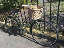 Hercules Balmoral 1950's Vintage bike, Retro city bicycle easy commuter with basket and bell