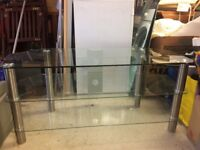 "Logik 42"" Glass and Metal TV Stand"