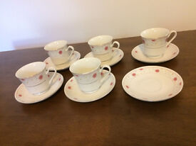 Pretty cups and saucers.