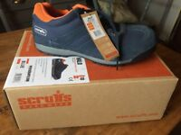 SCRUFFS SIZE 10 BLUE SAFETY TRAINERS