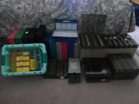 Large collection of 35mm slide storage boxes
