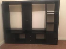 Black tv unit and storage unit