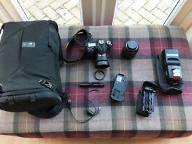 Nikon D7200 camera and accessories