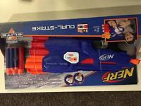 Brand new Nerf dual strike toy