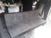 Grey & Black suede effect sofa bed/chair