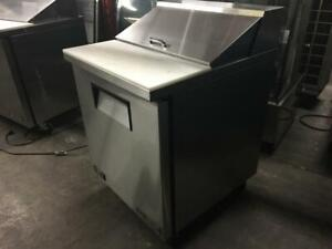 28 inch True Stainless Salad Topping Prep Table Model TSSU-27-08-HC like new only $1195!