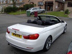 BMW 4 SERIES CONVERTABLE heated leather seats alloy wheels f.s.h. many extras superb