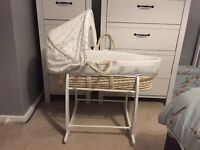 Mothercare Lullaby Moon Moses Basket and Stand