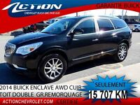 2014 BUICK ENCLAVE AWD LEATHER AWD CUIR 7 PASS. GR REMORQUAGE