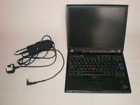 IBM Lenovo Thinkpad T60, 14.1' - Intel Core Duo, 80GB HDD, 1.5GB RAM, Windows 10 Prof.