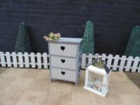 STUNNING PINE DRAWERS PAINTED IN 2 TONS OF LAURA ASHLEY GREY COLOUR