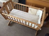 Wooden Swinging Crib from Mothercare
