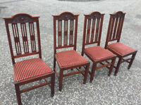 Solid wood 4 x Dining Chairs , in good condition . Free local delivery. Must be seen....