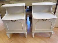 Pair of Vintage French Style Bedside Units