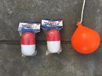 6 x floating buoys + 1x orange floating buoy