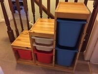 Ikea TROFAST Childrens Storage Unit with 6 Storage Bins