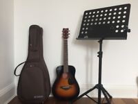Yamaha JR2 Acoustic - Tobacco Sunburst & New Jersey Sound NJS080 Sheet Music Stand