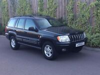 51 Plate Jeep Grand Cherokee 4.0 Ltd Auto Black Low Mileage 2 Keys Full Leather AC