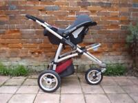Pram, pushchair, carseat buggy Complete Travel System by Maxi Cosi newborn to 5 years